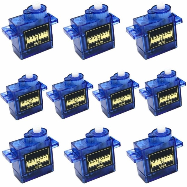 10 x SG90 9g Mini Micro Servo for RC for RC 250 trex 450 Helicopter Airplane Car Motors For Arduino UNO R3 Free Shipping