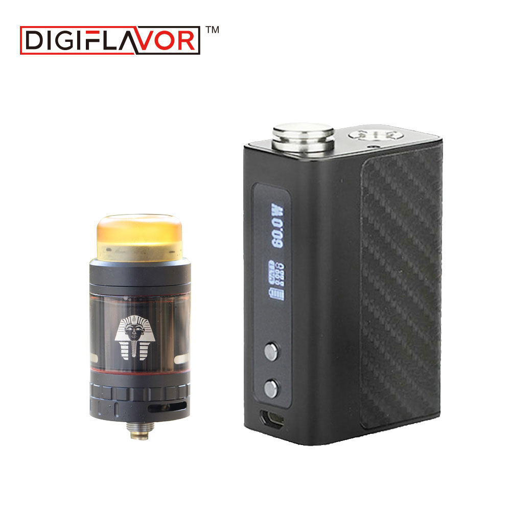 100% Original Digiflavor DF 60 TC Kit 60W with Pharaoh Mini RTA Tank Atomizer 2ml/5ml & 1700mAh Built-in Battery E-cigarette Kit clearance original 60w digiflavor df 60 tc mod with 1700mah built in battery max 60w output electronic cigarette vape box mod
