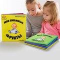 Familia Montessori y Fruta Niño Ruso Idioma Anti-rotura Del Bebé Colorido Libro Juguete Educativo Para El Bebé Niños de Aprendizaje