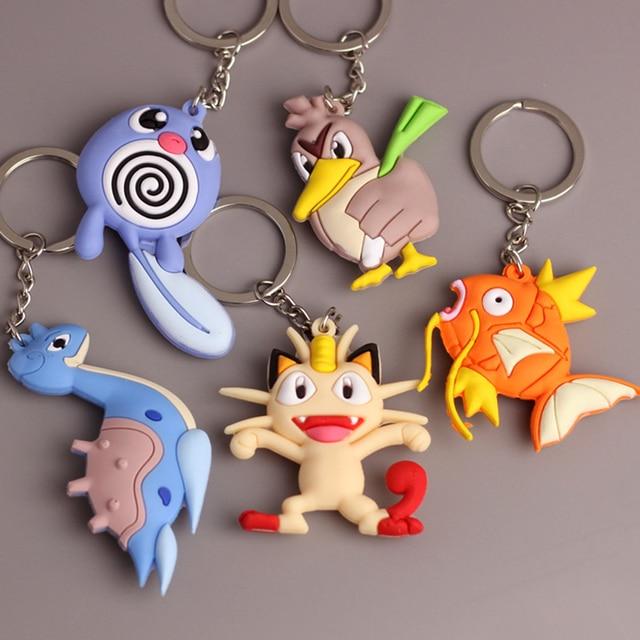 3D Anime Pokemon Go Key Ring Pikachu Keychain Pocket Monsters Key Holder 2