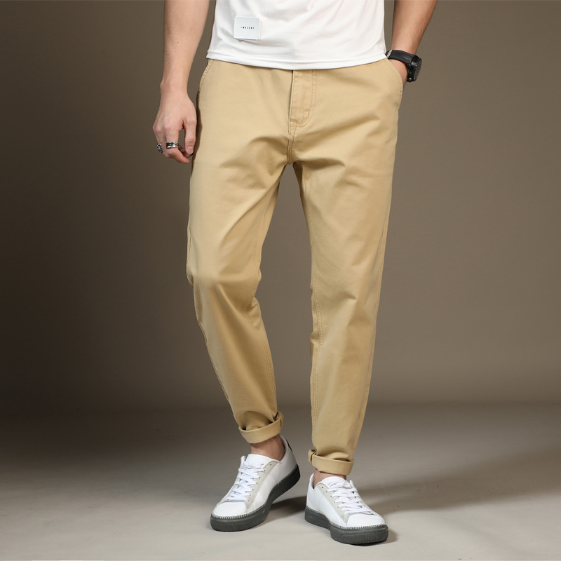 2019 Summer Cotton Men Casual Korean Small Feet Harem Pants Chinese Style Loose Male Trousers Fat Size 28-48