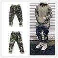 KMO clothingfashion cantor mens macacão harém camo urbana de nevoeiro lado zipper calças corredores sweatpants camuflagem do exército militar