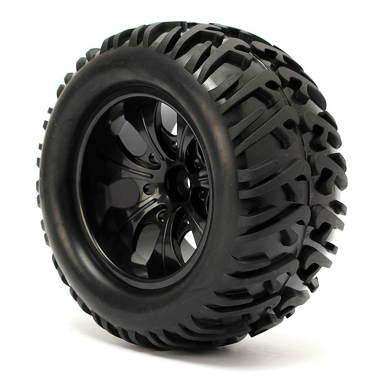 4PCS 12mm Racing Wheel Rim & Tires Redcat HSP 1:10 Monster truck RC On-Road Car Parts 12mm Hub 88005 hsp rc car 1 10 electric power remote control car 94601pro 4wd off road short course truck rtr similar redcat himoto racing