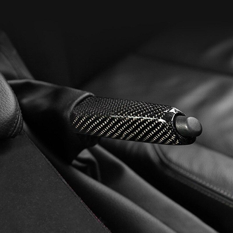 Carbone fibre couvre-poignée de frein à main Garniture accessoires de décoration intérieure voiture pour BMW E46 E90 E92 E60 E39 E36 F30 F34 F10 F20 Accessoires