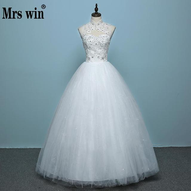 New Style Lace Wedding Dress Korean Style Simple Chinese Halter ...