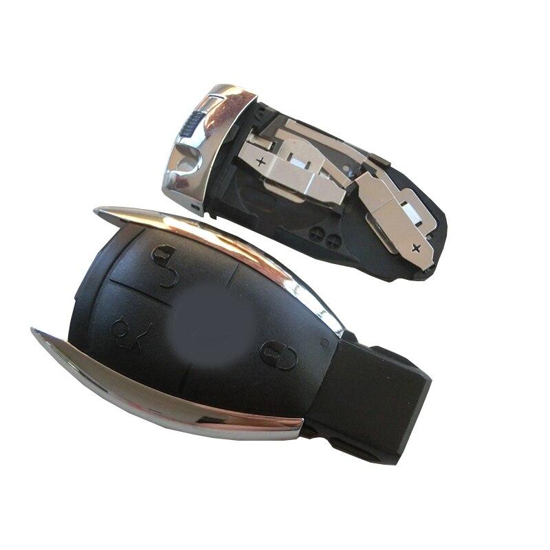 3 boutons À Distance Clé Intelligente Coque Avec Deux Fente de Batterie pour Clé Mercedes BENZ A B C E G R CL CLK E G GL M CLASSE SLK Style