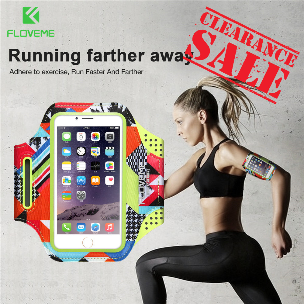 FLOVEME 4.7 Armband For iPhone 8 6 6s 7 Sport Phone Armband Case 5.5inch Running Fitness Arm Band For iPhone 8 7 6 6S Plus bag
