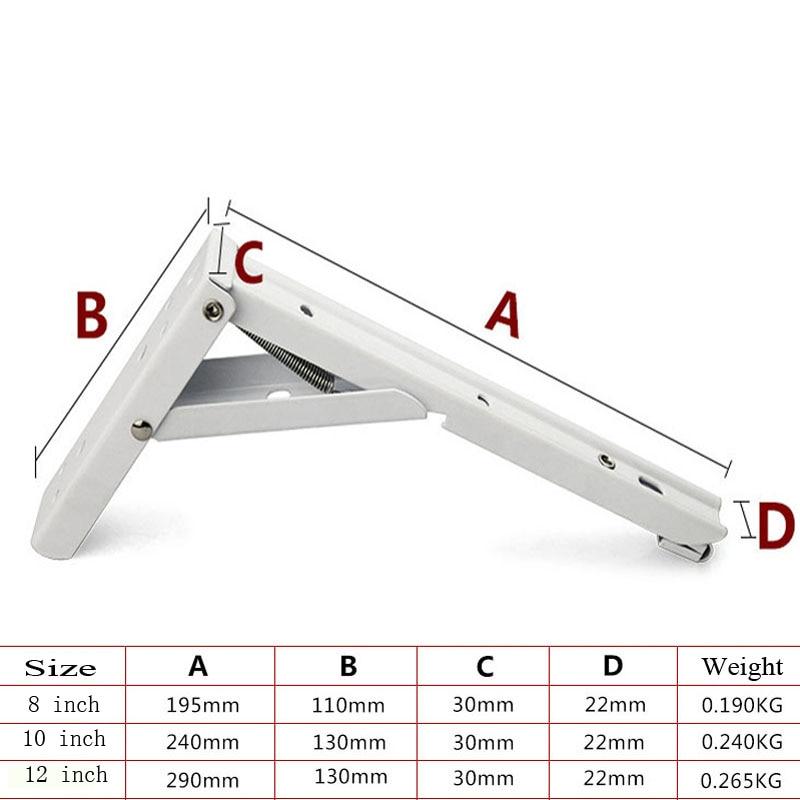 Awe Inspiring Us 11 6 13 Off 2Pcs 8 12 Inch Folding Bracket Triangular Metal Release Catch Support Bench Table Folding Shelf Bracket With Install Screws In Uwap Interior Chair Design Uwaporg