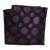 Alfaiate Smith Luxo Seda Pura Roxo Polka Dot Bolso Gravata praça Set Top Qualidade Gravata Combinando Lenço Com Caixa de Presente natal