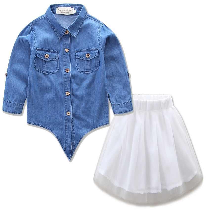 Vestidos de mezclilla madre hija mamá y yo ropa de aspecto familiar trajes a juego mamá hija vestido ropa mamá Bebé Ropa conjunto