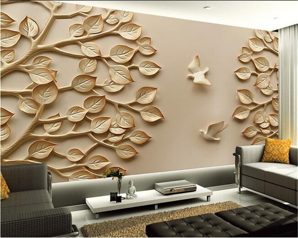 Folhagem Beibehang Al Vio Murais De Parede Personalizado Moderno  -> Mural Parede Sala