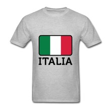 2017 Fashion Newest Men T-shirt Flag Italia Custom Made fashion O-Neck Short Sleeve Men's T Shirts100% Cotton Shirts