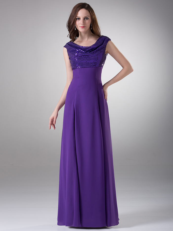 Aliexpress.com : Buy Real Photos Purple Long Modest Bridesmaid ...