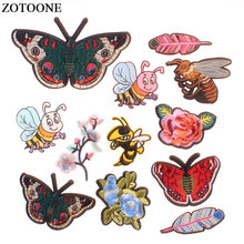 ZOTOONE Butterfly Embroidered Patches for Clothing Decals Stickers Shirt DIY Accessories Jeans Dress Badge Clothes E