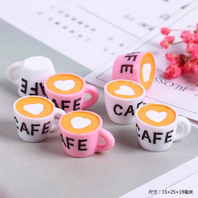 New Addition Slime Charms for Lizun Slime Supplies Filler DIY Polymer Cute Coffee Cup Accessories Toy Model for Kids Toys Gift M