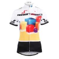 Nowy darmowa wysyłka kobiety pudełko z krótkim rękawem jazda na rowerze koszulki poliester oddychająca rowerów/koszulki rowerowe Multicolor jazda na rowerze odzież