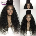 Brazilian Virgin Hair Lace Front Wig 150% Curly Full Lace Human Hair Wig For Black Women Glueless Front Lace Wig With Baby Hair