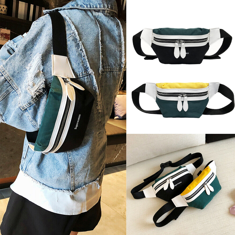 2019 New Fashion Canvas Fanny Pack Waist Bag New Brand Belt Bag Women Waist Pack Chest Bag Phone Pouch Belly Bag Waist Bags