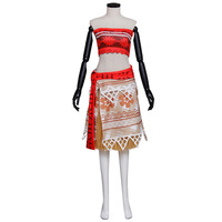 Moana Dress Cosplay Costume Moana Waialiki Adult Women Princess Dress For Halloween Festival Clothing Custom Made