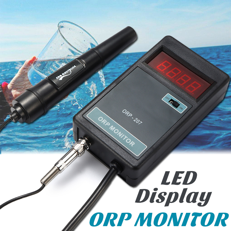 Marine Pinpoint Ph Orp Monitor Kit With Probe Lcd Digital