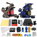 Solong Tattoo Kits 2 Handmade Coil Machine Guns Power Supply Foot Pedal 20 Needles Grip Tip Taty Set TK201-5
