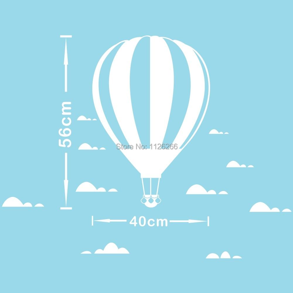 İsti hava balonu divar yapışdırıcıları Uşaq otağı ev - Ev dekoru - Fotoqrafiya 4
