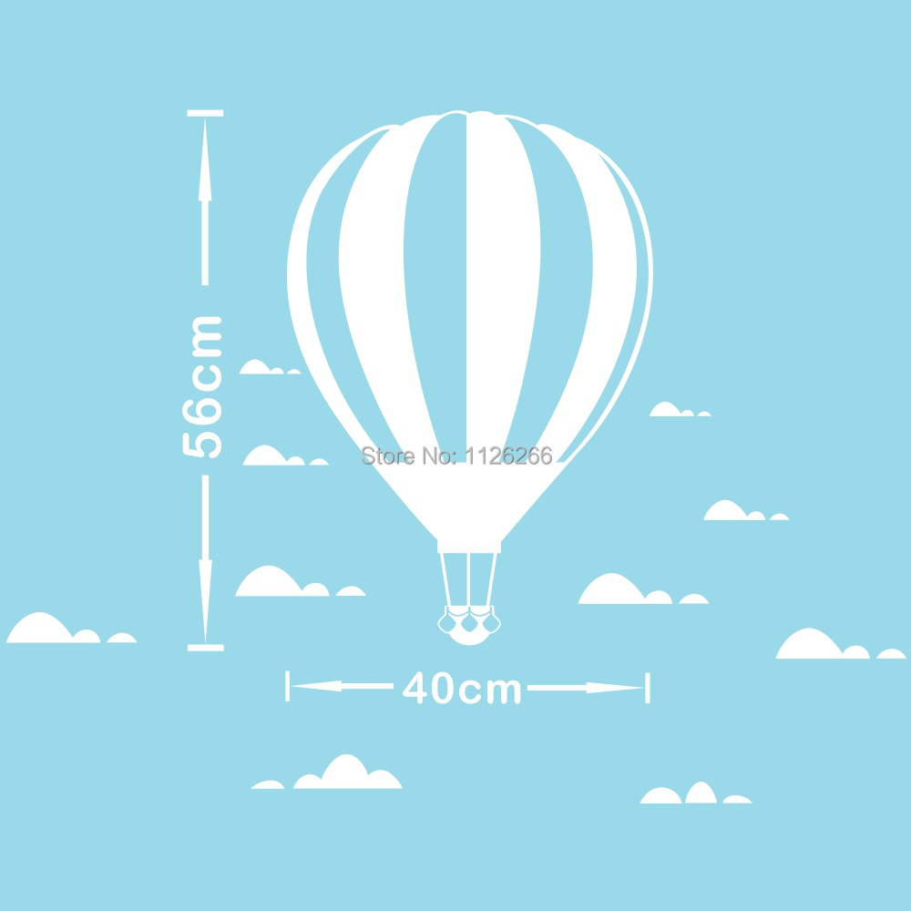 Heißluftballon Wandaufkleber DIY Wolken Poster Dekorative Tapete - Wohnkultur - Foto 4