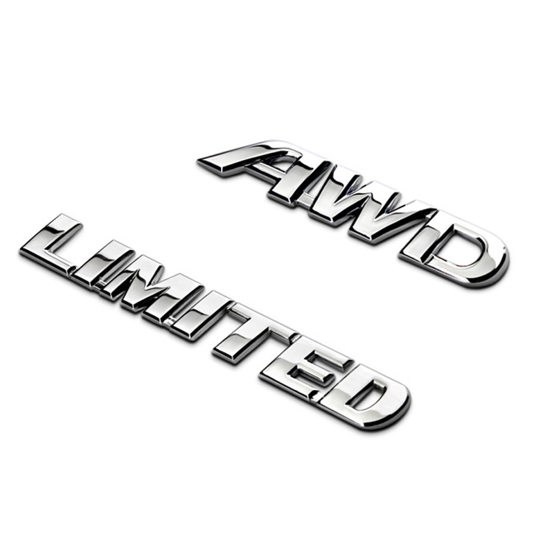 Dsycar 1Pcs 3D Metal AWD LIMINTED Car Side Fender Rear Trunk Emblem Badge Sticker Decal for JEEP BMW Nissan Audi VW Honda Toyota