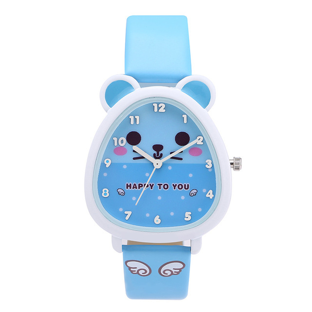 New Arrivals Muticolor Cute Cartoon Children Sport Watch Waterproof Comfortable Leather Belt Quartz Watch Gift Clock Relogio