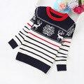 2016 nuevos niños de la manera ropa de algodón de los muchachos suéter 6-12years niños suéteres 8101