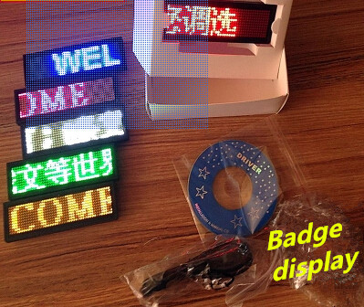 US $9 23 16% OFF LED electronic display LED badge business card Ping scroll  advertising screen LED Trademark led Work card Breastplate Job number-in