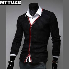 MTTUZB New fashion man casual slim sweaters men's spring autumn outwear man knitwear costume male cardigan M L XL XXL