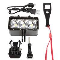 New Waterproof LED Diving Light For Gopro Hero 5 3 4 Session H9 SJCAM SJ4000 Snorkel