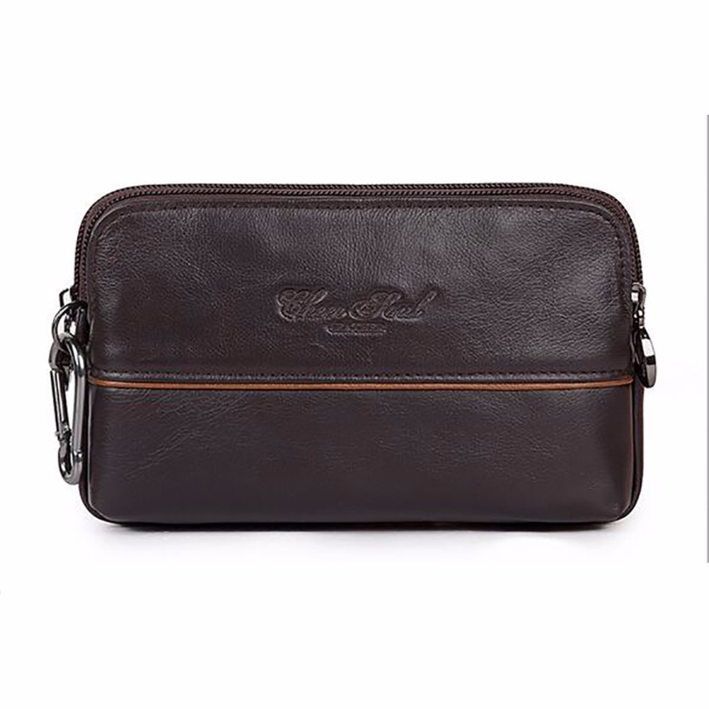 Men Leather Hip Belt Pouch Purse Fanny Pack Cell Phone Case Cover Male Waist Bag