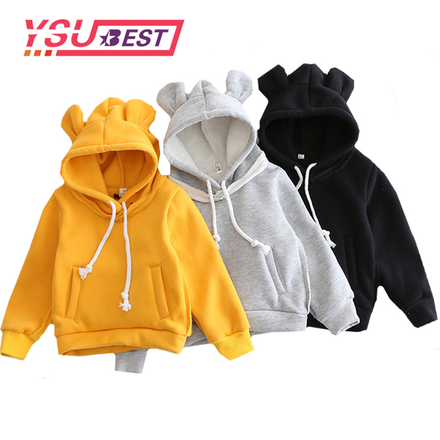 32fc4dfb4 2019 New Children Hooded Sweatshirt Boys Cute Bear Ears Animal ...