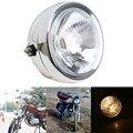 6.5 ''universal farol da motocicleta para gn125 suzuki honda yamaha harley touring chopper cafe racer lâmpada luz âmbar motobike