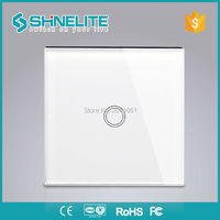 EU 1gang Glass Panel Control Automatic Wall Light Switch Home Domotica Smart House Touch Screen Light