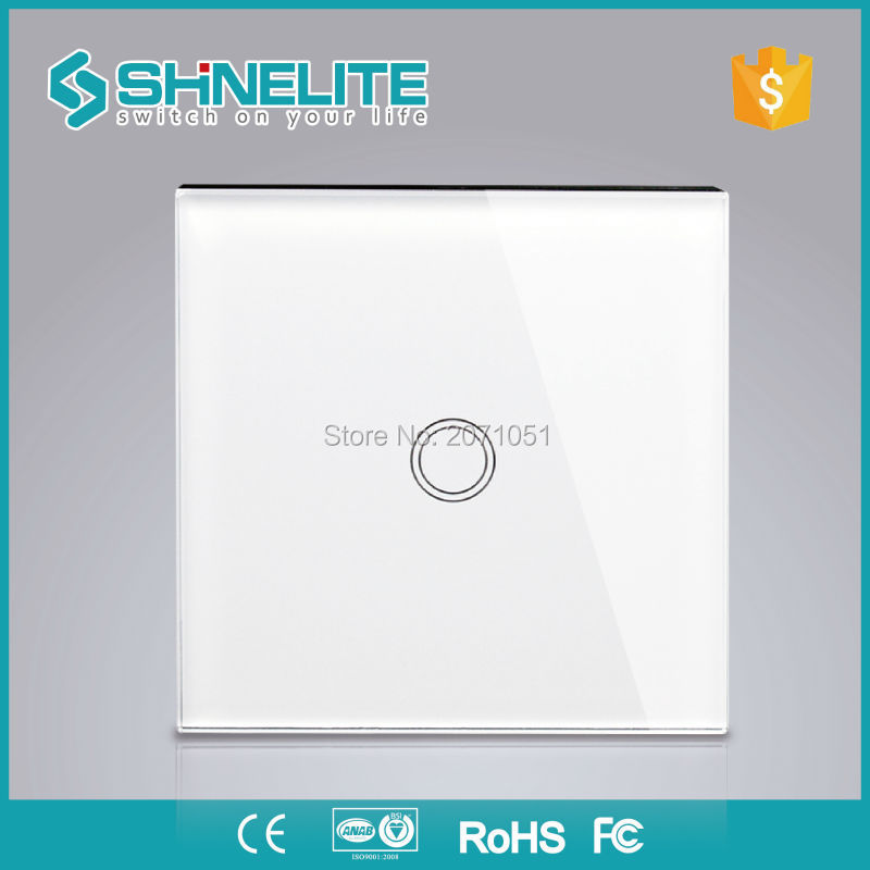 EU 1gang Glass panel control automatic wall light switch,home domotica smart house touch screen light livolo button switch us 1gang hotel tempered glass panel smart house wall light switch remote control switch touch control light switch led indicator