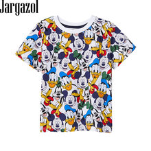 Jargazol Toddler Baby Girl Boy T Shirt Vetement Enfant Fille Cartoon Mickey Printed Short Sleeve Camisetas Calsual Tee Tops(China)