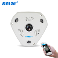 Smar HD 960P WIFI Wireless IP Camera H 264 Smart 360 Degree Panoramic VR CCTV Security
