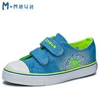 MMNUN 2017 New Spring Kids Causal Shoes Cute Canvas Denim Children Shoes Boys Children Sneakers Shoes