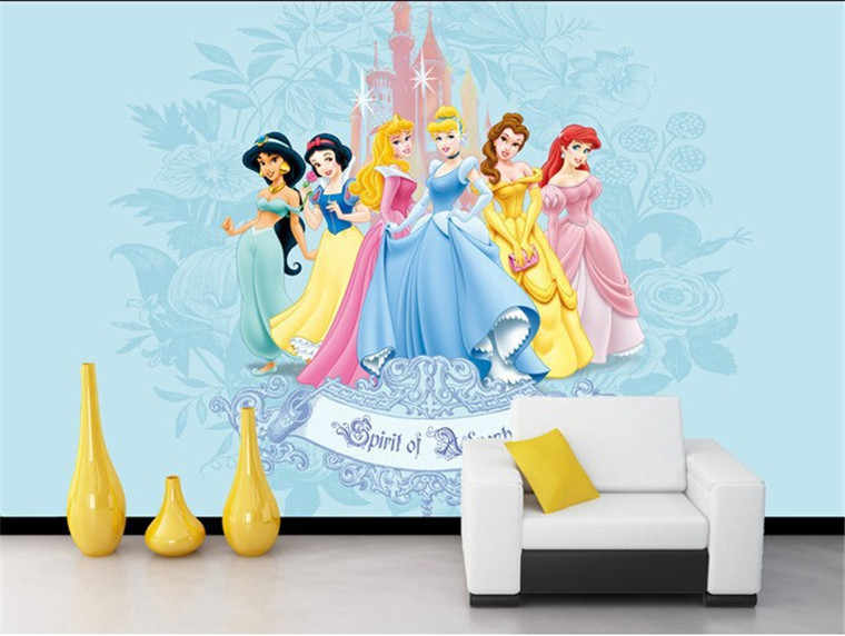 Custom 3d Murals Beautiful Sweet Cartoon Princess Living Room Sofa Tv Wall Children Bedroom Wall Paper Aliexpress