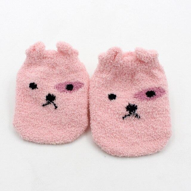 Non-slip Baby Socks Autumn Winter Coral Fleece Socks Warm Toddler Boy Girls Floor Socks Infant Clothing Accessories Thicken 5