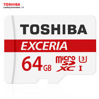 TOSHIBA U3 Memory Card 128GB 64GB SDXC Max UP 90MB S Micro SD Card Class10 With