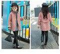 Шерсть Пальто для Детей Девушки Руно Winte Куртки Ребенка Шерстяные Пиджаки Девушка Кашемировые Пальто Пальто 2017 Весенние Девочек Одежда SYHB0