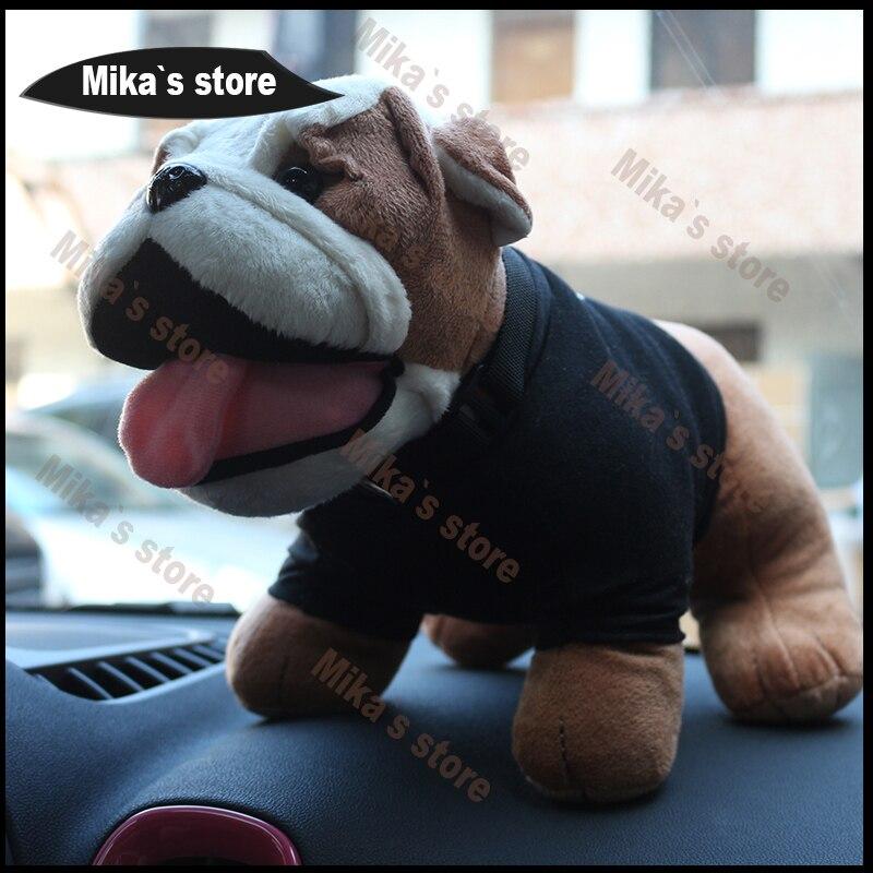 Neue Für mini cooper bulldog Fashion Kühlen dekoration schöne Bulldogge Stil Plüsch baumwolle Spielzeug Mini Cooper Auto Innen Zubehör