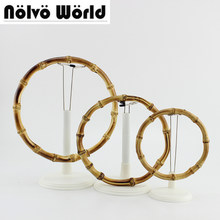 5 pairs=10 pieces,12cm 15cm 18cm Customized Bamboo Bag Handle Accessories bamboo purse handle natural Bamboo Round Handle(China)