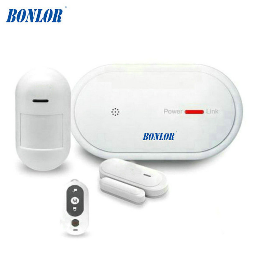Wireless WiFi & GSM Multi-Alarm System Android iOs APP Control Home Security Alarm System with PIR Motion & Smoke Sensor Added wireless smoke fire detector for wireless for touch keypad panel wifi gsm home security burglar voice alarm system