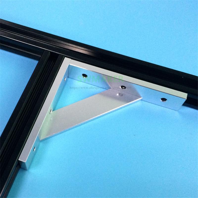 Upgrade Anodized Aluminum Frame Reinforcing 2020 Cross Profile Corner For V-slot Tronxy X3 Tevo Tarantula 3D Printer