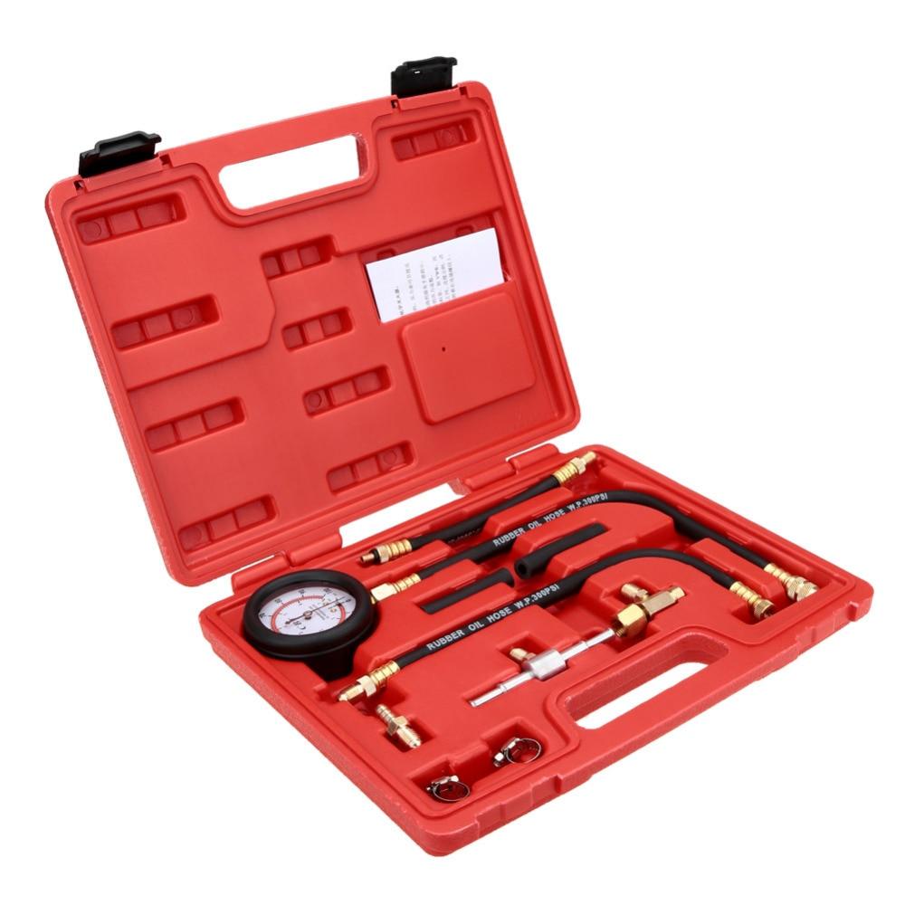TU-113 Auto Fuel Injection Pump Pressure Tester Kit Car Petrol Gas Engine Cylinder Compression Gauge Car Diagnostic Tool